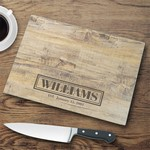 Personalized Glass Cutting Board - Rustic
