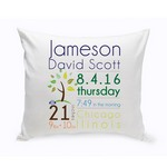 Personalized Baby Announcement Throw Pillow