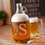 Personalized Monogrammed Glass Beer Growler