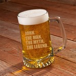 The Man. The Myth. The Legend. 25 oz. Beer Mug