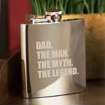The Man. The Myth. The Legend. Mirror 7 oz. Flask
