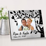 Personalized Etchings On The Tree Picture Frame