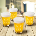 Monogrammed Glass Beer Cup Set