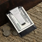 Personalized Leather Money Clip / Credit Card Holder