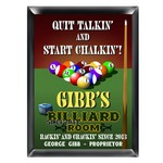 Personalized Billiards Room Pub Sign