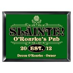 Personalized Slainte Classic Pub Sign