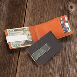 Personalized Metro Leather Wallet / Money Clip
