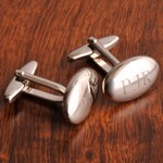 Personalized Oval Polished Cufflinks