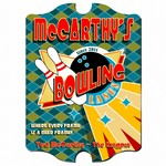 Personalized Bowling Lanes Vintage Pub Sign
