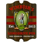 Vintage Personalized Longdrive Pub Sign