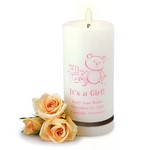 Personalized It's A Girl Candle