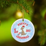 Personalized Puppy's First Christmas Ornament