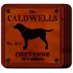 Personalized Cabin Series Coaster Set (Available in 9 Designs)