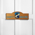 Personalized Gone Fishin' Kid's Room Sign