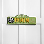 Personalized Kick It Up Kid's Room Sign