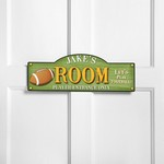 Personalized Touchdown Kid's Room Sign