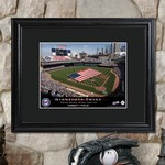 Personalized Major League Baseball Stadium Print with Wood Frame
