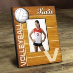 Personalized Bump Set Spike Volleyball Picture Frame