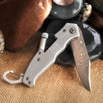 Personalized Klondike Lockback Knife with Flashlight