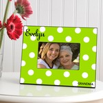 Personalized Polka Dots Picture Frame (Available in 6 Colors)