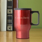 Personalized Red Travel Mug