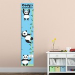 Personalized Hanging Pandas Height Chart