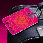 Personalized Moroccan Sun Luggage Tag