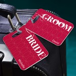 Personalized Bride and Groom Couples Luggage Tags