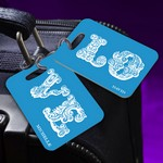 Personalized LOVE Connection Blue Couples Luggage Tags