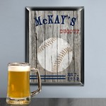 Personalized Traditional Baseball Man Cave Pub Sign