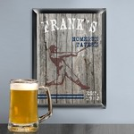 Personalized Traditional Homerun Man Cave Pub Sign