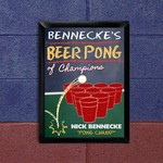 Personalized Beer Pong Traditional Sign