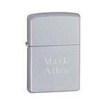 Personalized Zippo Satin Chrome Lighter