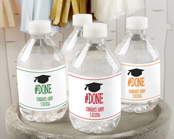 Personalized Water Bottle Labels Done Graduation
