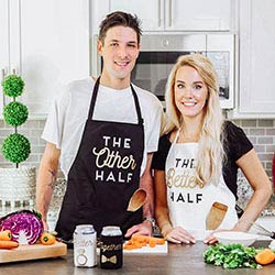 Other Half & Better Half Couples Apron Gift Set