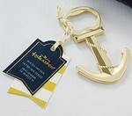 Gold Nautical Anchor Bottle Opener