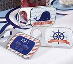 Personalized Bottle Opener with Epoxy Dome - Nautical Birthday Collection