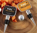 Personalized Bottle Stopper with Epoxy Dome - Halloween