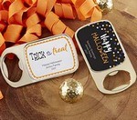 Personalized Gold Bottle Opener with Epoxy Dome - Halloween