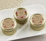 Personalized Gold Round Candy Tins - Fall (Set of 12)