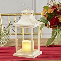 LED Vintage Decorative Ivory Lantern - Hampton