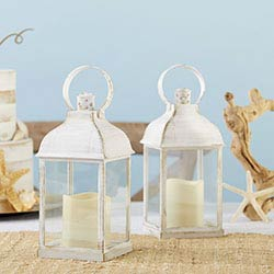 LED Vintage Decorative White Lantern - Marrakesh (Set of 2)