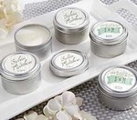 Personalized Travel Candle - Rustic Wedding Collection