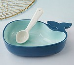 Whale Shaped Dip Bowl and Spoon