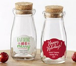 Personalized Milk Jar - Holiday (Set of 12)