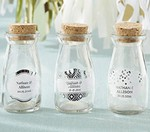 Personalized Milk Jar - Silver Foil (Set of 12)