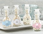 Personalized Mini Glass Favor Bottle with Swing Top - Religious (Set of 12)