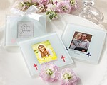 Personalized Frosted-Glass Photo Coaster - Religious (Set of 12)
