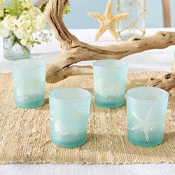 Beach Party Frosted Glass Votive (Set of 4)