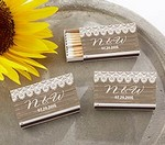 Personalized White Matchboxes - Country (Set of 50)